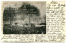 75001 PARIS - Le Théâtre Français Pendant L'incendie, 6 Mars 1900 - Postée En 1900 - District 01