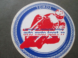 TOMOS,  AVTO MOTO ŠPORT,  LJUBLJANA 1977,  AUTOCOLLANT, CARSTICKER, 13cm - Aufkleber