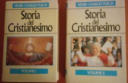 Coppia Di Libri Storia Del Cristianesimo Di H. C. Puech Vol.1 E 2 Ed. Euroclub Laterza 1987 - Religion