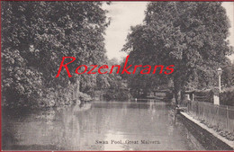 Worcestershire Swan Pool Great Malvern Rare Old Postcard (In Very Good Condition) - Worcestershire