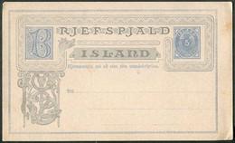 Iceland 1879 Postal Stationery Card 5 Aur Ganzsache Entier Islande Island Danmark Denmark Danemark Michel # P1 - Interi Postali