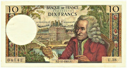 FRANCE - 10 Francs - 07.11.1963 - P 147.a - Serie U.38 - Voltaire - 10 F 1963-1973 ''Voltaire''