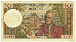 FRANCE - 10 Francs - 06.03.1969 - P 147.c - Serie Y.478 - Voltaire - 10 F 1963-1973 ''Voltaire''