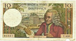 FRANCE - 10 Francs - 08.01.1971 - P 147.c - Serie Y.650 - Voltaire - 10 F 1963-1973 ''Voltaire''