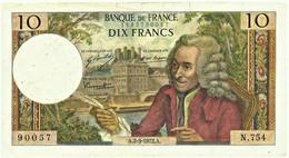 FRANCE - 10 Francs - 02.03.1972 - P 147.d - Serie N.754 - Voltaire - 10 F 1963-1973 ''Voltaire''
