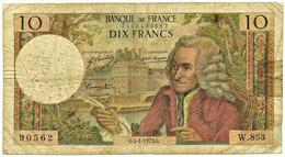 FRANCE - 10 Francs - 04.01.1973 - P 147.d - Serie W.853 - Voltaire - 10 F 1963-1973 ''Voltaire''