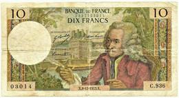FRANCE - 10 Francs - 08.11.1973 - P 147.d - Serie C.936 - Voltaire - 10 F 1963-1973 ''Voltaire''