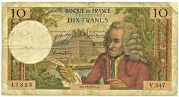 FRANCE - 10 Francs - 06.12.1973 - P 147.d - Serie V.947 - Voltaire - 10 F 1963-1973 ''Voltaire''