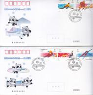 China 2020-25 Beijing 2022 Winter Olympic Game Ice-sports 5v B.FDC - Winter 2022: Peking
