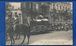REIMS   Fête Des Ecoles Laïque 5 Juillet 1914   Défilé De Chars - Reims