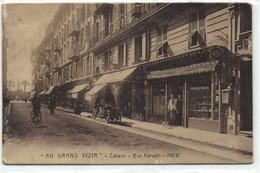 """""""AU GRAND VIZIR"""" Tabacq  Rue Paradis NICE  Devanture Belle Voiture Rare Recto Verso - Unclassified"""