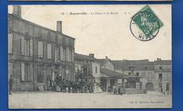ANCERVILLE   La Place Diligence  Animées     écrite En 1907 - Unclassified