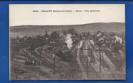 CHAGNY   La Gare   Train  Animées - Chagny