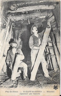 1923 - St ELOY Les MINES - Mineurs Réparant Une Galerie - Saint Eloy Les Mines