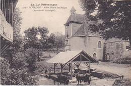VILAOUT20-   GOURDON DANS LE LOT NOTRE DAME DES NEIGES  LE LAVOIR  VACHES - Gourdon