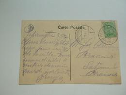 Stempel ( 719 )  Afstempeling Op Kaart  Ieper  -    Noodstempel  1919 - Noodstempels (1919)