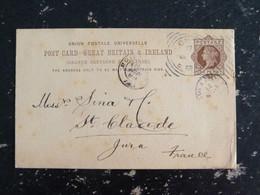 ENTIER POSTAL GRANDE BRETAGNE GREAT BRITAIN  - REINE VICTORIA 13 MARS 1888 - Postwaardestukken
