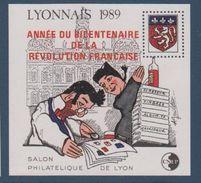 CNEP-1989-N°11** LYONNAIS.Salon Philathélique De LYON.surchargé ANNEE DU BICENTENAIRE - CNEP