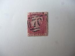 GREAT BRITAIN SG XXXX RED PENNY POSTMARK 70 - ....-1951 Vor Elizabeth II.