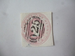 GREAT BRITAIN-POSTAL HISTORY QV EMBOSS CUT OUT WITH NUMBERED CANCELLATION - Postmark Collection