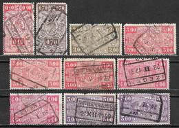 1923-1924 BELGIUM LOT OF 10 USED RAILWAY STAMPS - 1923-1941