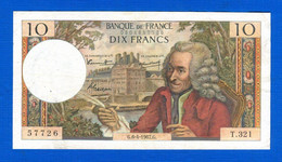 10  Fr  Du  6 / 4 /1967 - 10 F 1963-1973 ''Voltaire''