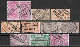 1927 BELGIUM LOT OF 11 USED RAILWAY STAMPS - 1923-1941