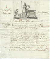 LETTRE A ENTETE ARMEE DU NORD ET SAMBRE ET MEUSE / TRESORERIE NATIONALE / BRUXELLES / 9 VENTOSE AN 3 - 1792-1815 : Departamentos Conquistados