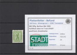 SBZ 1945 PLATTENFEHLER Nr 1ABvx III Postfrisch (210227) - Soviet Zone