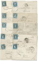 LOT DE 10 LETTRES AVEC N° 60 BLEU CERES / ARRAS /  LOT 14 - 1849-1876: Klassieke Periode