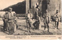 FR77 NEUFMONTIERS - Guerre 1914 - ELD - Blessés Allemands Sur La Place De L'église - Animée - Other Municipalities