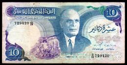 556-Tunisie Billet De 10 Dinars 1983 D24 - Tusesië