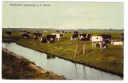 Hollandsch Landschap A.d. Vecht Met Koeien - Other