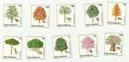 SAN MARINO 1979 MNH ENVIRONMENT PROTECTION TREES AND ANIMALS TREE ANIMAL - Unused Stamps