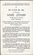 Baaigem, Merelbeke: 1943, Marie Leyman, Veeckman - Imágenes Religiosas