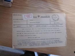 Telegram Beograd Geneve Urgent Hitno  1961 - Unclassified