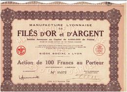 69-FILES D'OR ET D'ARGENT. MANUFACTURE LYONNAISE DE ...  Lot De 2 - Other