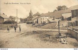 Vaux-Lez-Rosières - Place De L' Église - Dos Uni - 2 Scans - Vaux-sur-Sûre