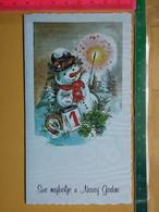 KOV 8-251 - New Year, Bonne Annee, Bonhomme De Neige, Snowman - Anno Nuovo