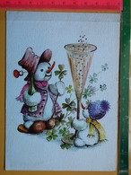 KOV 8-251 - New Year, Bonne Annee, Bonhomme De Neige, Champagne - Anno Nuovo