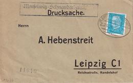 ALLEMAGNE 1932 LETTRE ZUGSTEMPEL LEIPZIG-MEUSELWITZ - Brieven En Documenten