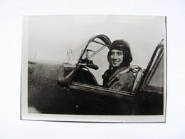 PHOTO AUTOGRAPHE PILOTE AVIATION CASABLANCA JEAN GISELON A BORD D UN CURTISS  R101 - Aviación