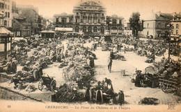 - 50 - CHERBOURG. - La Place Du Marché Et Le Théâtre. - - Cherbourg