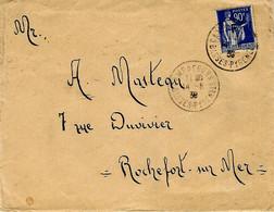 1939-enveloppe D'un Réfugié Espagnol , Affr. F M N°10 Oblit. CAMP DE GURS ( Bsses Pyrénées. ) - Guerra De 1939-45