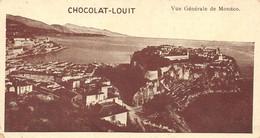 "4 VINTAGE ADVERTISING POSTCARDS "" CHOCOLAT-LOUIT 130X71 "" BRUXELLES ATHÈNES NORVÈGE MONACO (õ‿õ) ♣ - Advertising"
