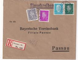 ALLEMAGNE 1932 LETTRE RECOMMANDEE DE FREYUNG AVEC CACHET ARRIVEE PASSAU - Brieven En Documenten