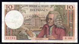 554-France Billet De 10 Francs 1970 E H550 - 10 F 1963-1973 ''Voltaire''