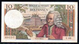 554-France Billet De 10 Francs 1964 F U89 - 10 F 1963-1973 ''Voltaire''