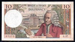 554-France Billet De 10 Francs 1963 C G37 - 10 F 1963-1973 ''Voltaire''
