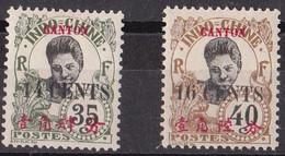 ⭐ Canton - YT N° 76 Et 77 ** - Neuf Sans Charnière - 1919 ⭐ - Unused Stamps